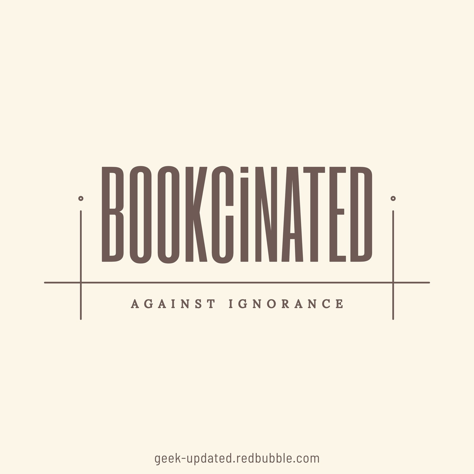 Bookcinated against ignorance - design by Piotr Kowalczyk
