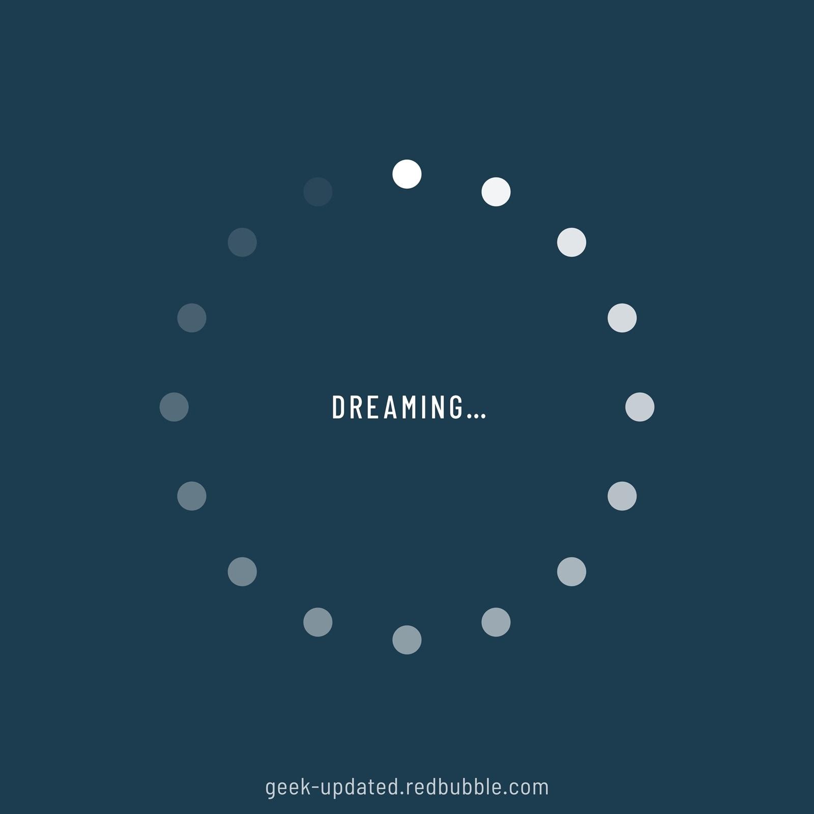 Dreaming-loading icon - design by Piotr Kowalczyk