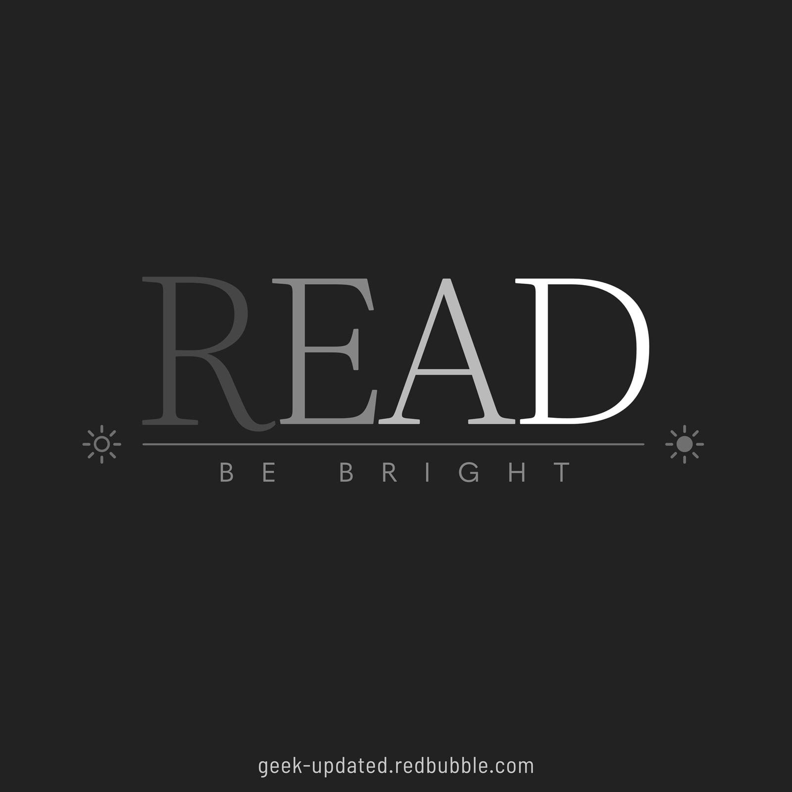 Read books be brighter - design by Piotr Kowalczyk
