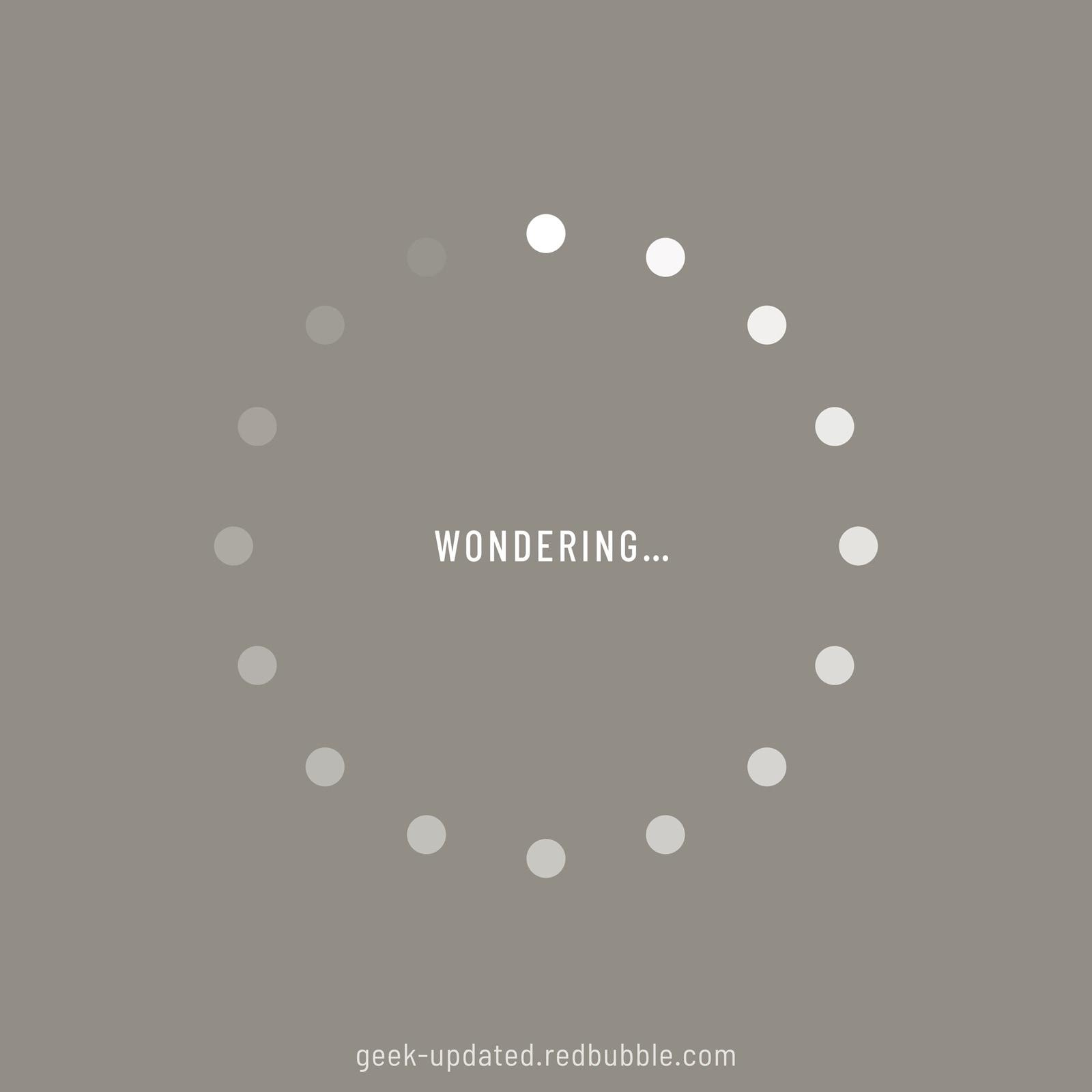 Wondering-loading icon - design by Piotr Kowalczyk