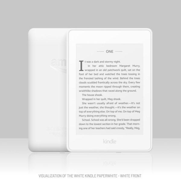 White Kindle Paperwhite visualization - white front