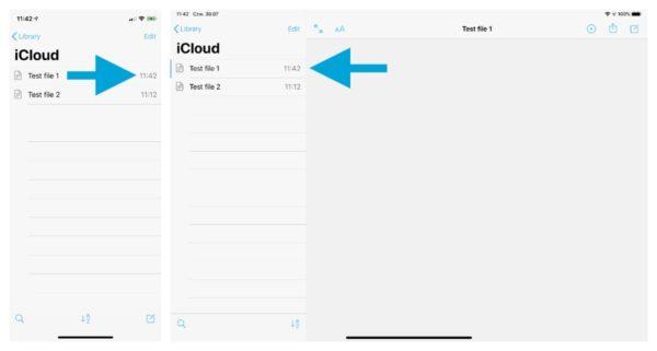 iA Writer sync files via iCloud