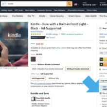 How to buy unregistered Kindle on Amazon