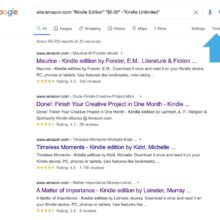 Use Google search to find free Kindle books on Amazon