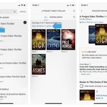 The newest Kindle for iOS app update groups and sorts books from single series