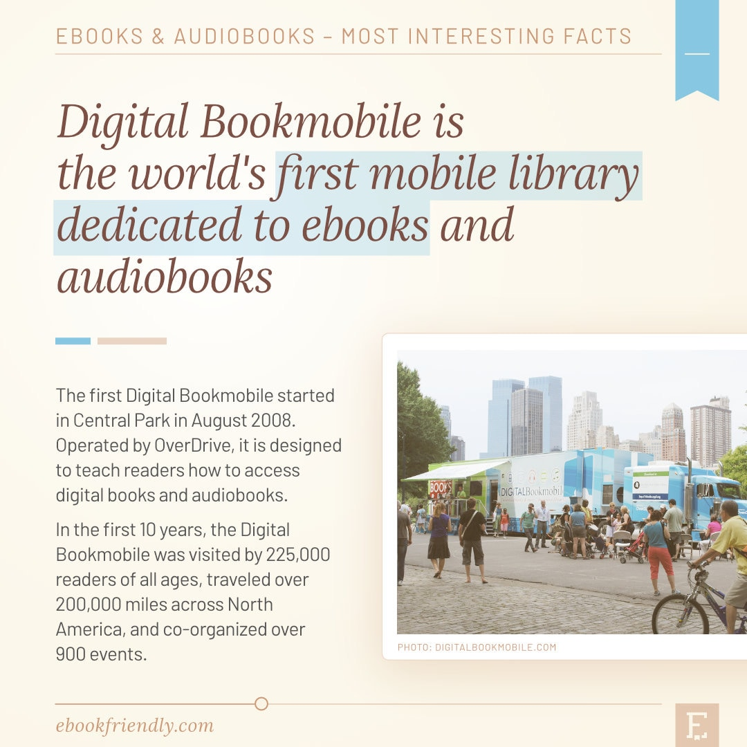 Digital Bookmobile first mobile library for ebooks 2008 - 50 years of ebooks