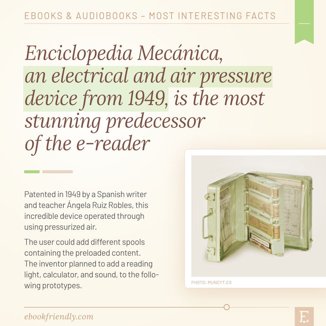 Enciclopedia Mechanica 1949 predecessor of e-readers - 50 years of ebooks