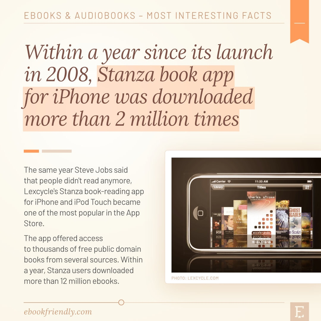 Stanza book app for iPhone 2008 - 50 years of ebooks