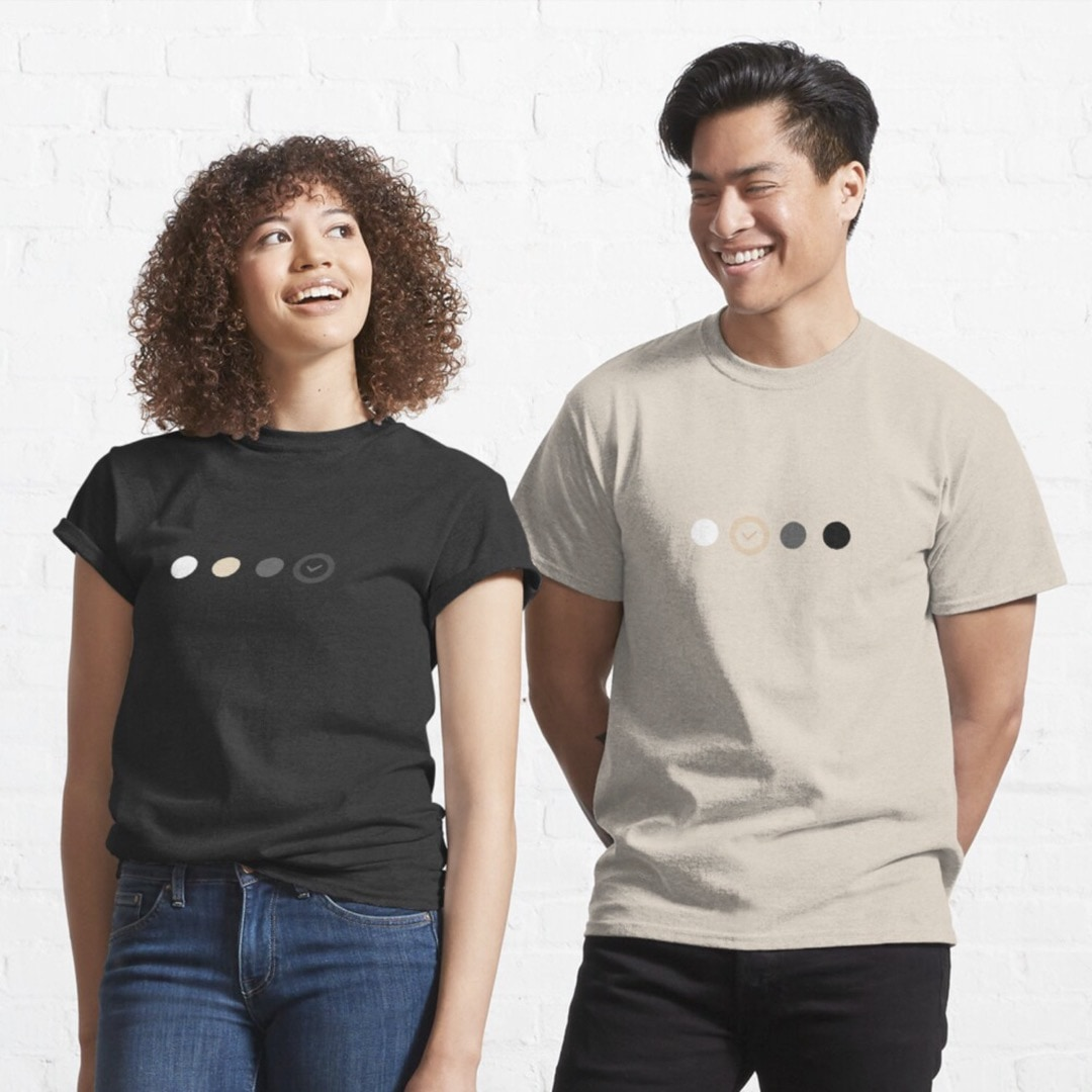 Clever gifts for geeks - color theme t-shirts