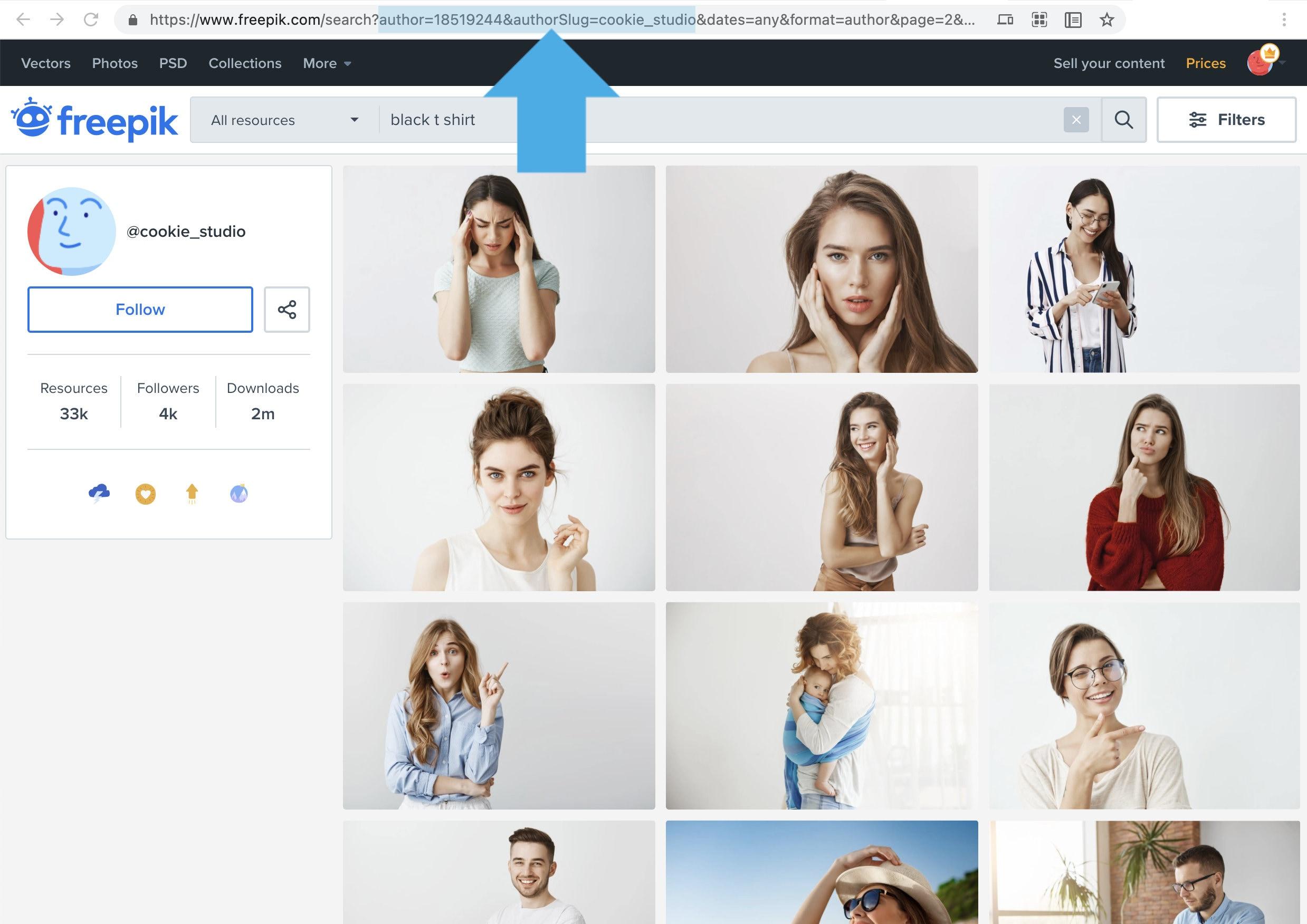 Freepik how to search single artist resources
