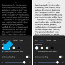 How to control theme colors of Kindle app for iPad & iPhone