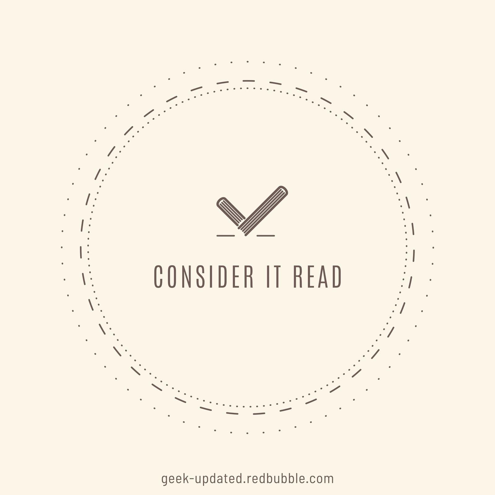 Consider it read - designed by Piotr Kowalczyk
