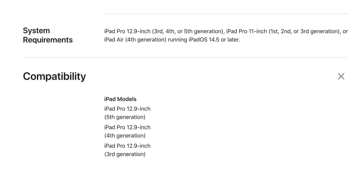 Magic Keyboard compatibility list iPad Pro 12.9