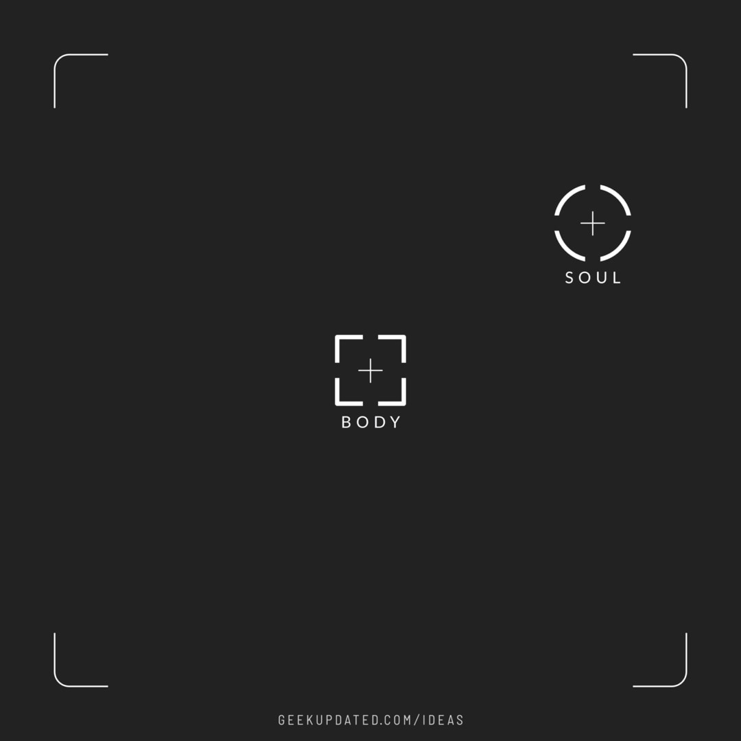 Body and soul as camera icons - design by Piotr Kowalczyk Geek Updated