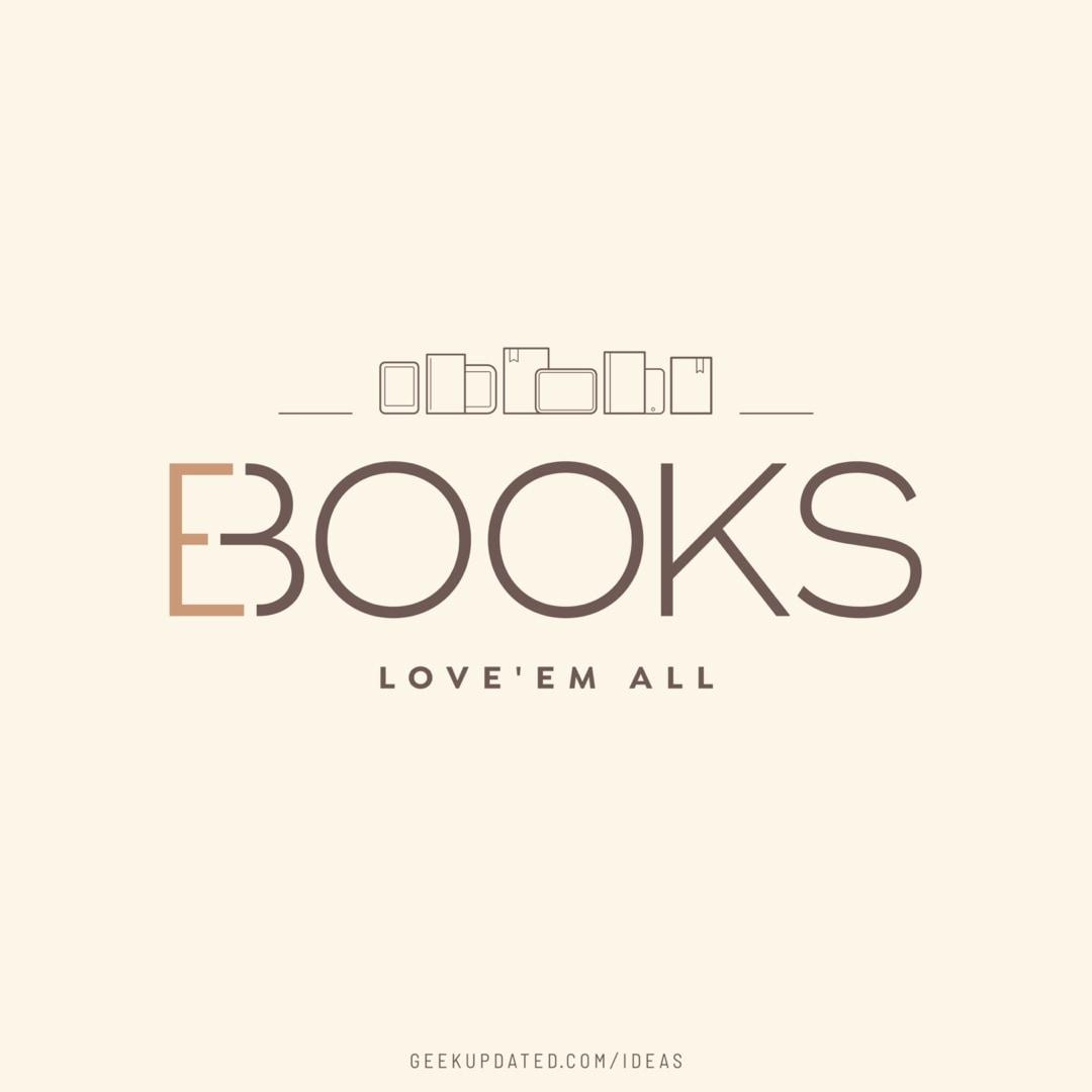 Books or ebooks - love them all - design by Piotr Kowalczyk