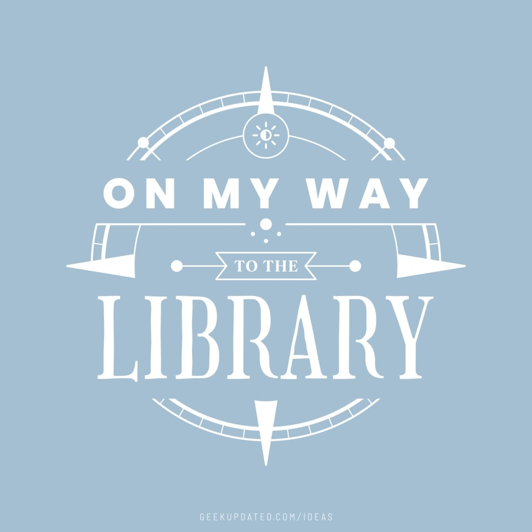 On my way to the library - design by Piotr Kowalczyk Geek Updated