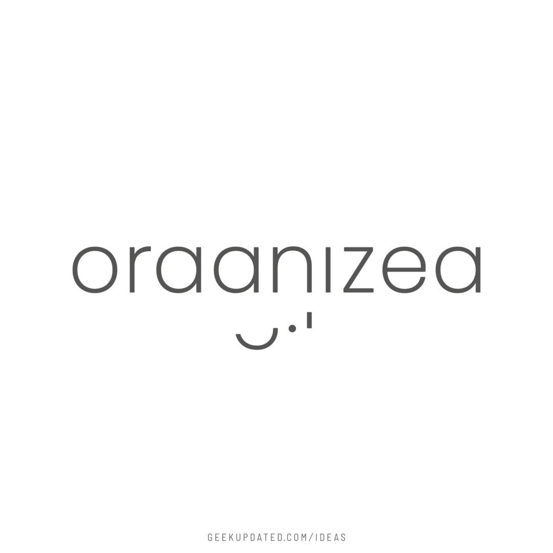 Organized - letter meaning idea - designed by Piotr Kowalczyk