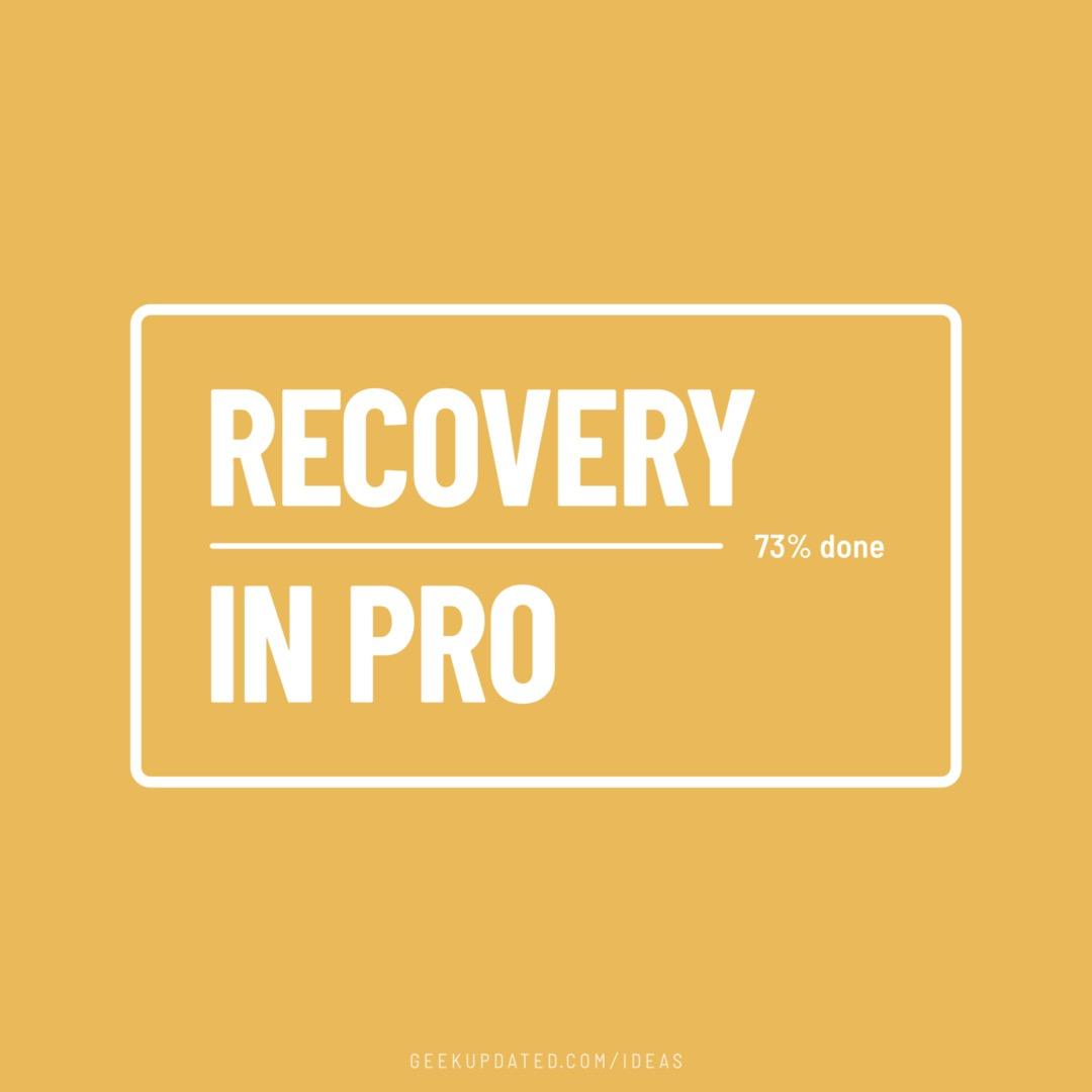 Recovery in progress - 73% done - design by Piotr Kowalczyk