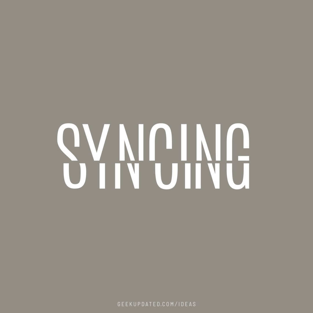 Syncing - letter meaning idea - design by Piotr Kowalczyk Geek Updated