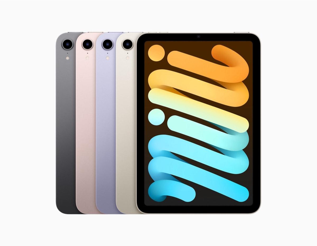 Apple iPad mini 6 in four color finishes