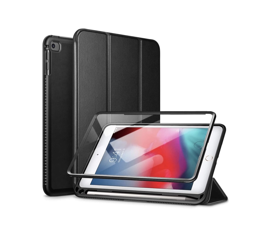 Multi-layer iPad mini 5 case with screen protector and Apple Pencil holder