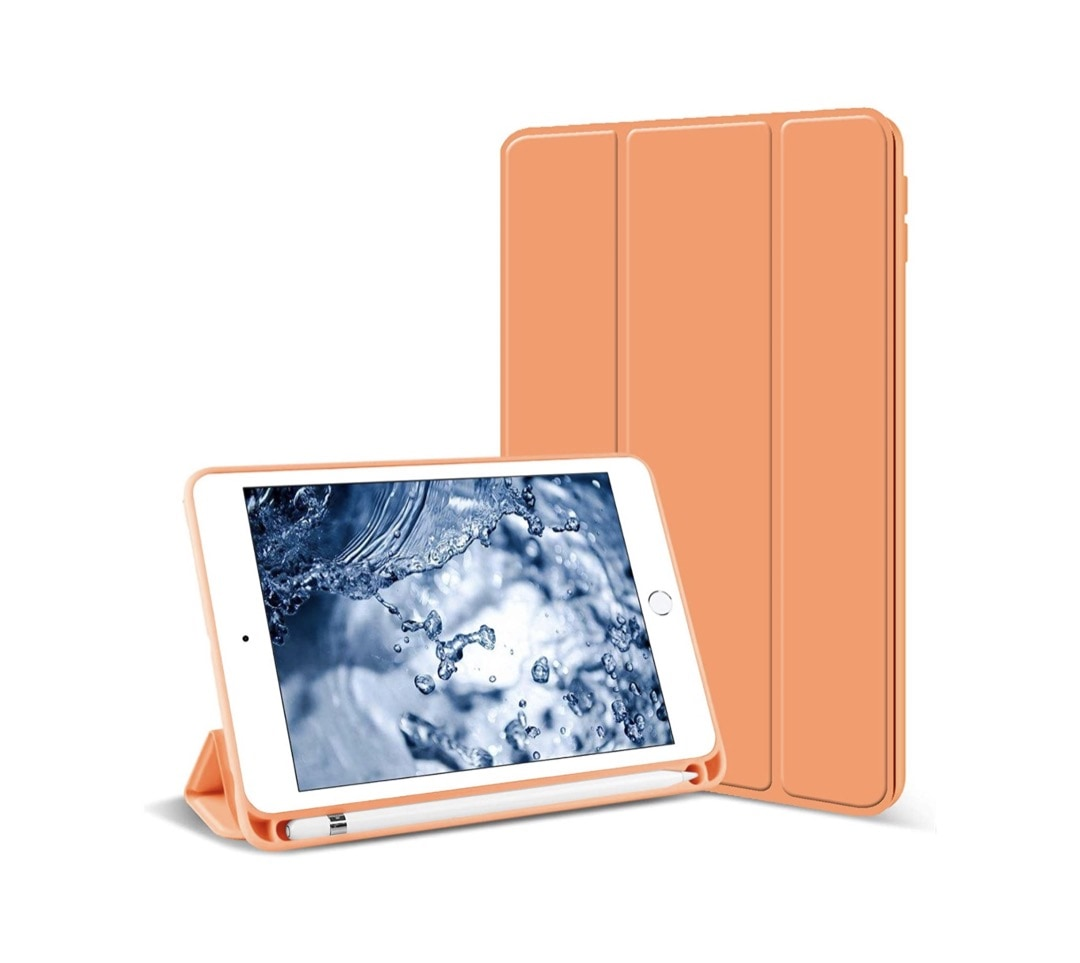 Slim tri-fold case with pen holder for iPad mini 5