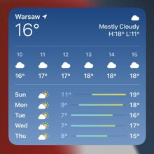 Weather widget iPad