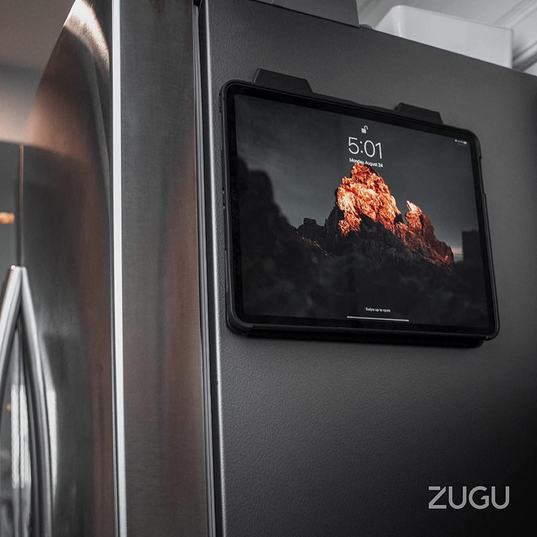 Zugu case for iPad on fridge