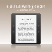 Kindle Paperwhite 6 concept