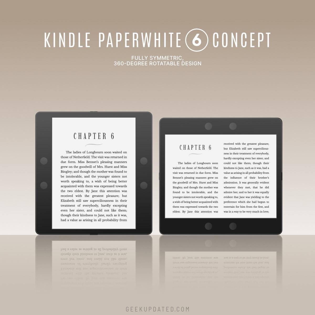 Kindle Paperwhite 6 concept - vertical vs horizontal