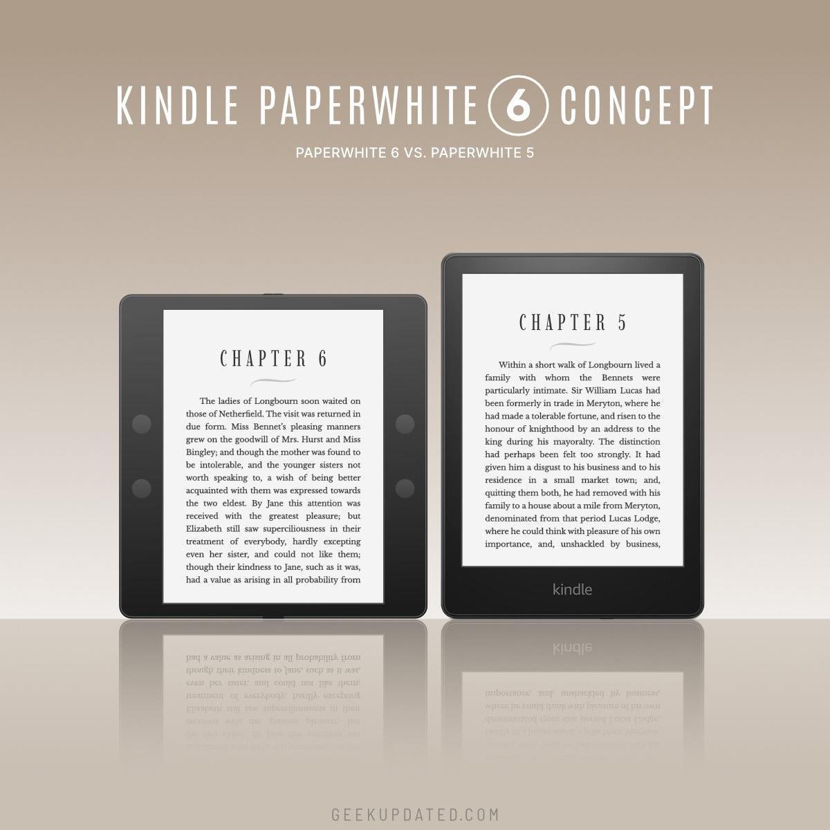 Kindle Paperwhite 6 concept vs Paperwhite 5